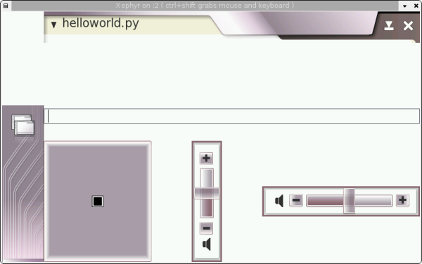 helloworld.py loaded, splash screen