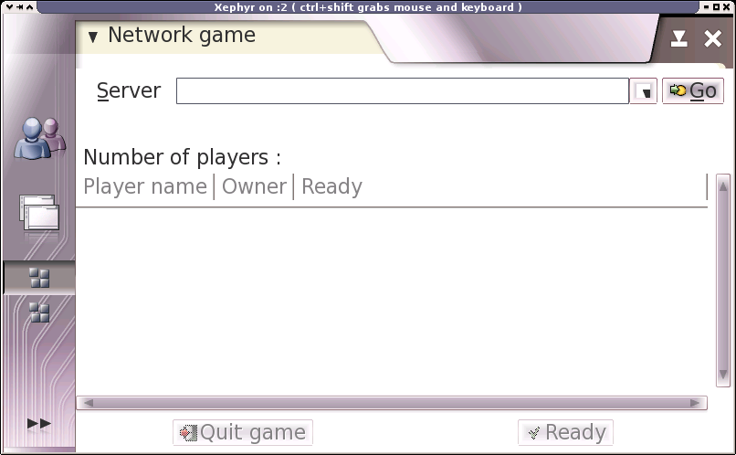 Network game window
