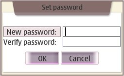 A 'set password' dialog