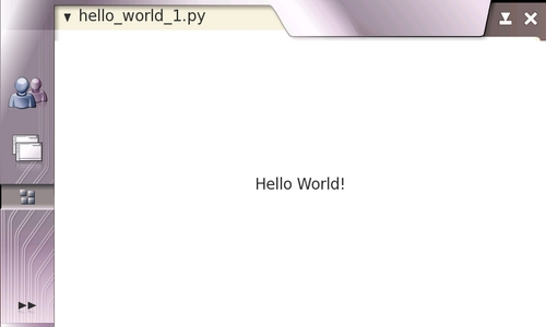 "Plain PyGTK ""Hello World!"" application"