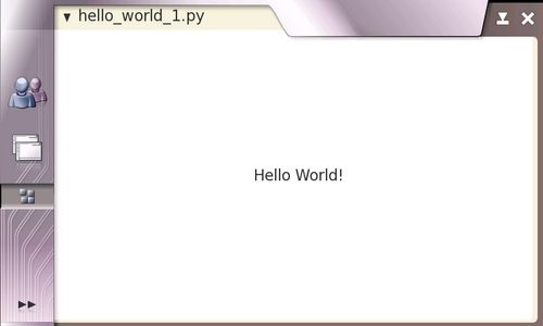 "Hildon-compliant ""Hello World!"" application"